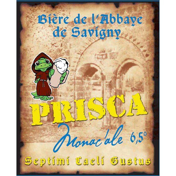 Etiquette - Bière Abbaye double Monac'Ale Brasserie Prisca Rhône