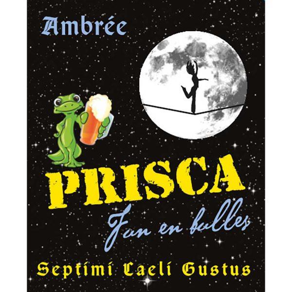 Etiquette - Bière Ambrée Brasserie Prisca Fun'En'Bulle