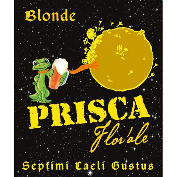 Etiquette Flor'Ale - Bière blonde artisanale de la brasserie Prisca