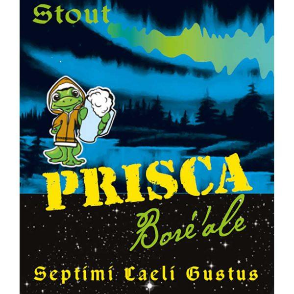 Etiquette bière Brune Stout Boré'Ale Brasserie Prisca Rhône-Alpes